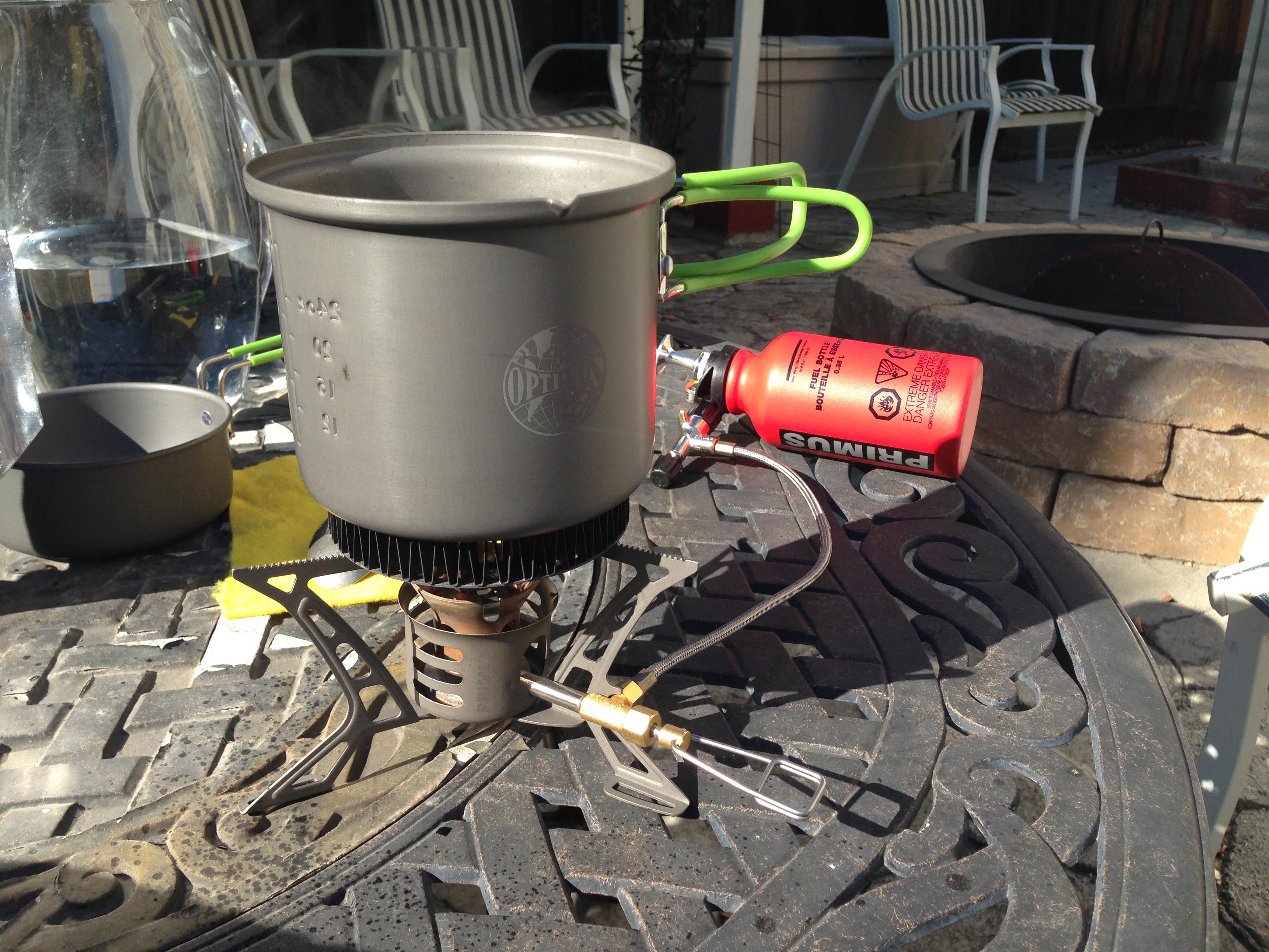 Optimus Terra Solo 2 Piece Aluminum Camping Backpacking Survival Mess Kit Set