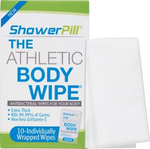 Athletic Body Wipes by ShowerPill-(10 Wipes)